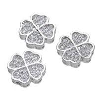 achat en gros de zircon lâche-2016 Le plus nouveau design Forme de fleur CZ Micro Couvre les perles Cuivre Metal Zircon Loose Beads