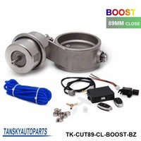 Wholesale Tansky Exhaust Control Valve With Boost Actuator Cutout mm Pipe CLOSE with Wireless Remote Controller Set TK CUT89 CL BOOST BZ
