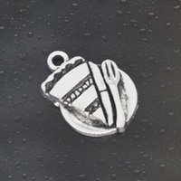 antique cake plate - Come on Guys cake breakfast Charms Pandora Antique Silver Alloy Jewelry Fit For Bracelet Pendant Necklace Man Woman mm
