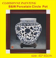 Wholesale Cloisonne Painting Filigree Enamel Painting Cloisonne craft painting colored sand painting decorative picture Chinese Painting