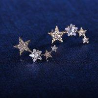 Cheap Korean pop jewelry wholesale diamond earrings a Korean fan manufacturers supply Long 1.6cm