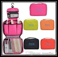 Wholesale NEW travel Make Up Cosmetic Bag Case Women Makeup Bag Hanging Toiletries Travel Kit Jewelry Organizer Cosmetic Case
