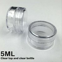 Wholesale 5ML G Plastic Empty Face Cream Jar Cosmetic Sample Clear Pot Acrylic Make up Eyeshadow Lip Balm Container Bottle Travel