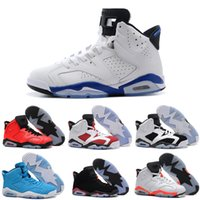 angry white men - 2016 Air Retro mans Basketball Shoes Angry bull White Infrared Oreo Olympic Sport Blue sneakers men retro VI CARMINE sports shoes