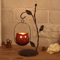 Wholesale Continental Iron candlesticks Romantic Gifts Retro Creative Decoration Home Decoration bar candlesticks