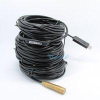 achat en gros de sewer camera-40M 4 LED USB endoscopie endoscopie Accueil imperméable à l'eau d'inspection tube tube de serpent cuivre tête égout drain nettoyeur Livraison gratuite