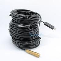 al por mayor limpia industrial-El hogar del endoscopio del USB del BESORCO de 40M 4 LED impermeabiliza el envío libre del limpiador del dren de la alcantarilla de cobre de la cabeza del tubo de la serpiente de la inspección