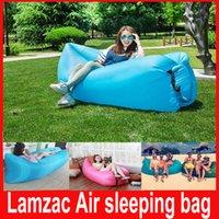 Cheap LAMZAC HANGOUT Fast Inflatable laybag Sleeping Bag Air Sofa KAISR Beach Camping Nylon Fabric Sleeping Bag Bed Lazy Chair