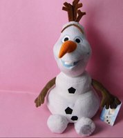 baby dolls uk - UK New Cute Christamas day gift for kids Olaf Snowman Doll Xmas gift Plush Soft Stuffed Kids Baby Toy
