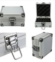 Wholesale Minitype Silver Aluminum Tattoo Machine Box Portable Carrying Case