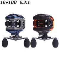 Wholesale NEW BB Ball Bearings Right Hand Baitcasting Fishing Reel Carp Fishing Gear g AF103 Blue Black