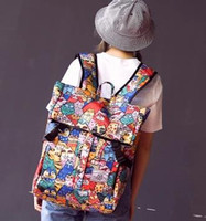 bag system - New Kitty cat solar system Double big bag Korean Harajuku Schoolbag Canvas girl High capacity Travel Backpack