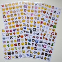 Wholesale Free DHL Emoji Sticker Pack Emoji Stickers Most Popular Emojis For Mobile Phone Kids Rooms Home Decor Tablet Sheets Pack ZD093
