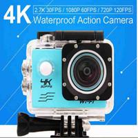 Wholesale 4K Ultra HD Action camera F60 Allwinner V3 K fps P fps P fps WiFi quot D Helmet Cam waterproof pro camera