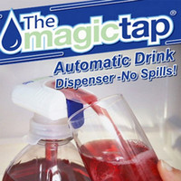 Wholesale Magic Fruit Juices Drinking Straw Tap Creative Kitchen Tool Automatic Drink Dispenser Ice Water Drink Straw Dispenser