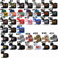 Wholesale TMT Print Snapback Hats Famous Brand Basketball Team Running Baseball Caps Snapbacks Hats with US Flag Style for Adult A030