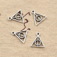 Wholesale 300pcs Charms harry potter deathly hallows mm Antique Making pendant fit Vintage Tibetan Silver DIY bracelet necklace
