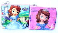 Wholesale New Kawaii Cartoon Sofia The First Princess Children Plush Coin Purse Zip Change Purse Wallet CM Kids Girl Backpack For Gift