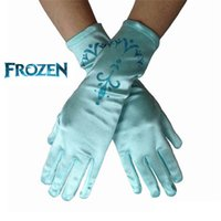 Wholesale solid cartoon Frozen Finger Gloves Baby Kids girls party gloves birthday decoration glove printing glove Frozen Princess