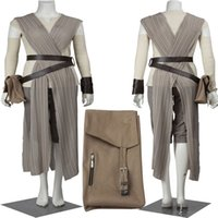 Wholesale TOP Selling Cloth Halloween COS Star Wars The Force Awakens Rey Donne Cosplay Costume Adult Unisex Chrismas