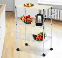 Wholesale Chrom Tier Kitchen Cart Trolley Wire Rolling Utility Storage Rack Food Service
