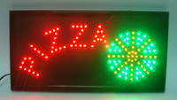 Wholesale 20pcs direct selling x19 inch semi outdoor Pizzas store Ultra Bright running led illuminated sign