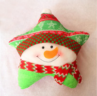 Wholesale Christmas Pillow Decoration bolster With The Santa Claus And Snowman Xmas Five Star Stuffing Cushion hot sale Product Code