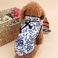 Wholesale Dog clothes pets coats puppy dog elegant clothes sweater costumes size soft ladies dog clothes Chinese style