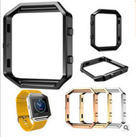 Wholesale Fitbit Blaze Watchcase frame Holder case List Box Cover Metal Band For Fitbit Blaze Smart Watch