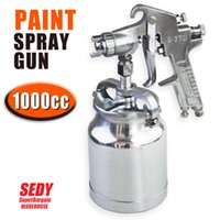 Wholesale SEDY cc Mini HVLP Pneumatic Spray Gun mm Gravity Feed Spray Gun Air Painting Tool Pneumatic Paint Spray Gun