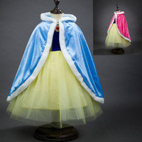 Wholesale Children Girls Princess Poncho Winter Baby Kids Warm Elsa Anna Cloak Cape Shawl For Dresses Cosplay Christmas Outwear Clothing PX C06