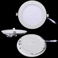 aluminum pannel - Led Round Slim Panel Downlights W W W W W W Recessed Bathroom Ultra Thin Pannel Light Bulbs Bedroom Luminaire