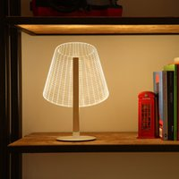 Wholesale 3D Illusion Table Lamp Dimmable Colorful Night Light LED Bedroom Reading Creative Lamps Decoration Home Decor UK EU US Plug
