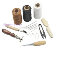 aluminum clip art - One Set Sewing Tools Needles Thread Clip Sew Wax Line finger Awl Stitching Wheel