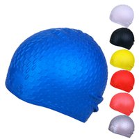 Wholesale Professional Waterproof Adult Unisex Silica Gel Ear Protection Swimming Cap Men Women Silicone Swim Cap Pool Hat Ear Protectors