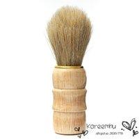 Wholesale New Professional Barber Salon Shave Shaving Razor Brush Wood Handle Tool Beard Mustache Brushes For Men Hot Sale