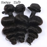 Wholesale Derun Hair New Arrival Mix inches Loose Wave Brazilian Peruvian Malaysian Indian Human Hair Weft Hair Weave
