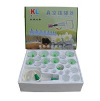 Wholesale With English Instructions Traditional Chinese Magnetic Therapy Cups Vacuum Cupping Set Kit Body Suction He