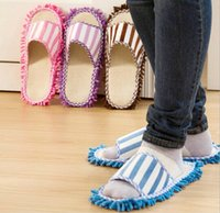 bedroom floor covering - Multifunction Microfiber Dust Mop Wipe Slippers Novelty Bedroom Slippers Home Cleaning Shoes Cover Lazy Tool Home Supplies