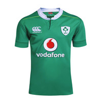 Wholesale Top High quality Green Ireland rugby jerseys Zealand rugby tshirts size from S M L XL XXL XXXL