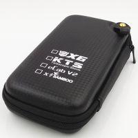 al por mayor x6 nudos e cig-Zipper Case Bag Bolsillos grandes Paquete de cigarrillos electrónicos E Bolsa de cigarrillos E Bolsa Cig para kits KTS X6 X9 Kit eCab V2 Cigarrillo electrónico 300P