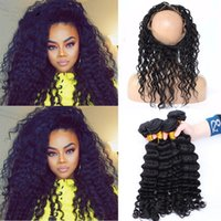 band elastic machine - Malaysian A Human Hair Elastic Band Lace Frontal Closure Deep Wave Ear To Ear Lace Band Frontal With Hair Extensions