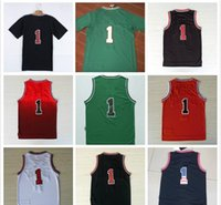 Wholesale 2016 Stitched basketball Jersey Rose Black Red White Green Jersey Free fast Shipping Size m XXL Allow Mix Order