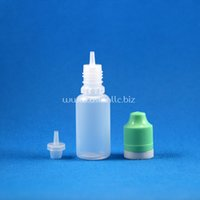 Wholesale 100 Sets ml Plastic Dropper Bottles Tamper Evident Child Double Proof Caps Long Thin Needle Tips e Vapor Cig Liquid mL