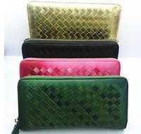 american national manufacturing - Factory price stock and manufacture ladies wallet ladies pars hand set bag genuine wallet weaving women genuine leather wallet