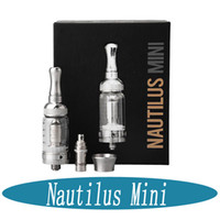 Wholesale Aspire Nautilus Mini tank atomizer ml atomizers Clearomizer Set with Pyrex Glass Adjustable airflow Replacement Coil fit BVC coils DHL fr