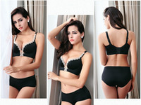 Wholesale Sexy Underwear Women girl Bras Sets drawbench one piece style B CUP Lingerie Set Luxurious Vintage Lace Embroidery Push Up Bra And Panty Set