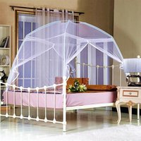 Wholesale 2016 Summer Folding Mesh Insect Bed Mongolian Yurt Mosquito Net King Queen Size Bedding Canopy Curtain Dome Tent