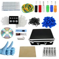 Wholesale Complete Tattoo Kit Guns Machines Colors Ink Sets Power Supply Disposable Needles Tips Grips