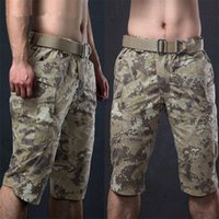 Wholesale Tactical Outdoor Hiking Shorts Camouflage Capri Pants Men Cotton Polyester Cropped Quick Dry Trousers Fashion Hunt Casual Camping Tour Short